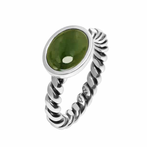 TVUNNET RING, JADE