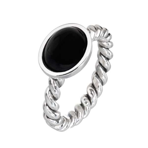 Tvunnet ring, onyx